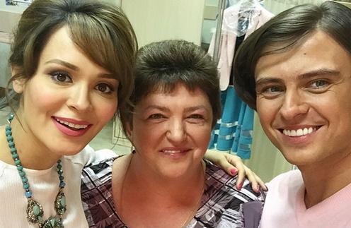 Прохор Шаляпин с Анной Клашниковой и мамой на съемках «Пусть говорят»
