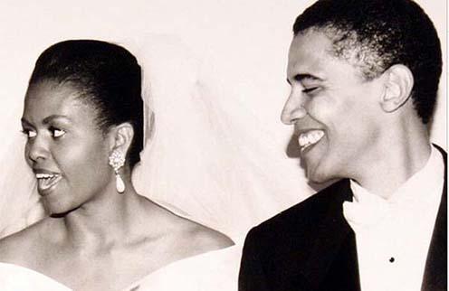 Мишель и Барак Обама 22 года назад