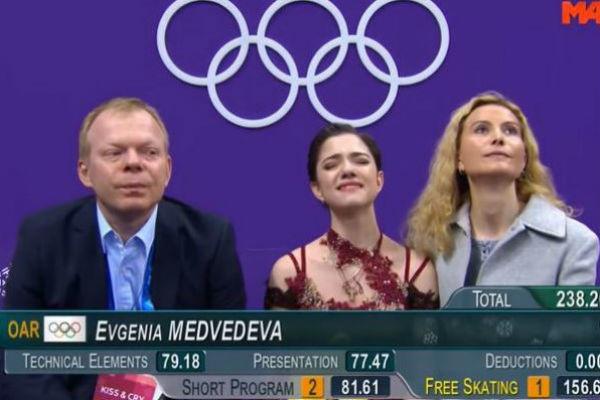 Фигуристка плакала, заняв второе место на Олимпийских играх