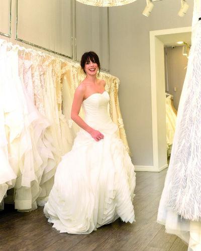 Красавица Диана выбрала платья и для регистрации, и для венчания