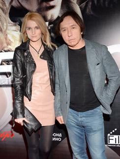 Женя Малахова и Ренат Давлетьяров на кинопремьере