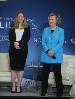 Хиллари Клинтон с дочерью Челси