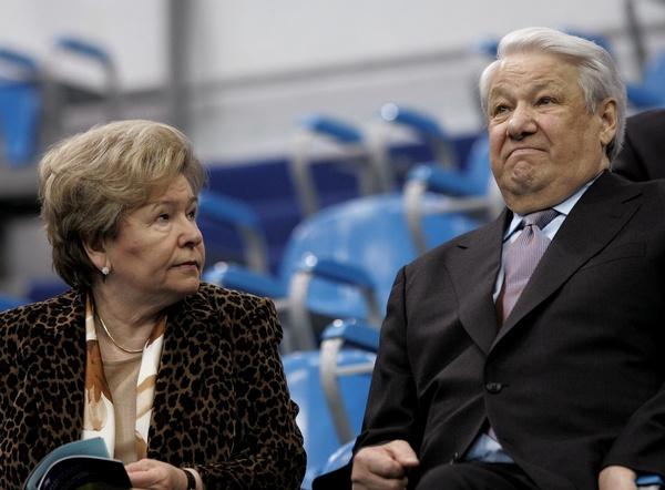 Борис Ельцин с женой Наиной