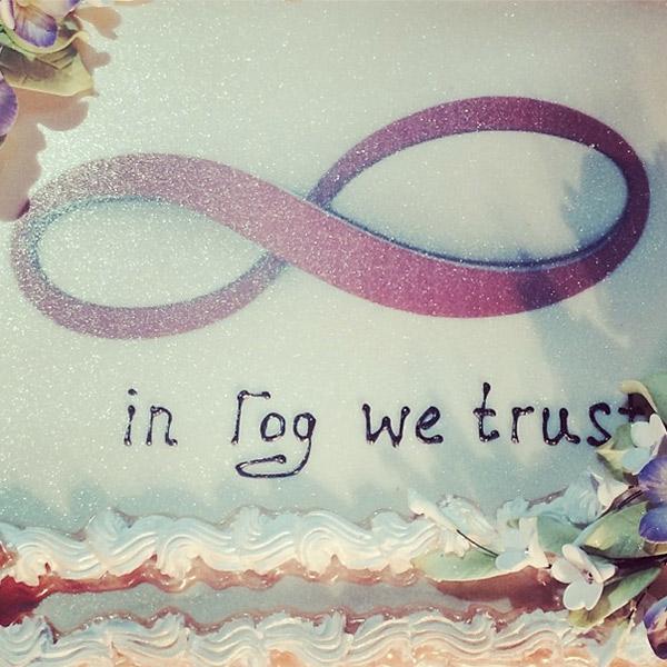 Фрагмент свадебного торта