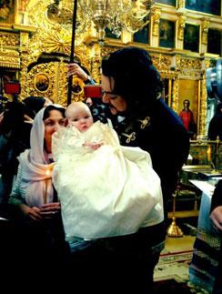 Филипп Киркоров с дочкой Аллой-Викторией на крестинах