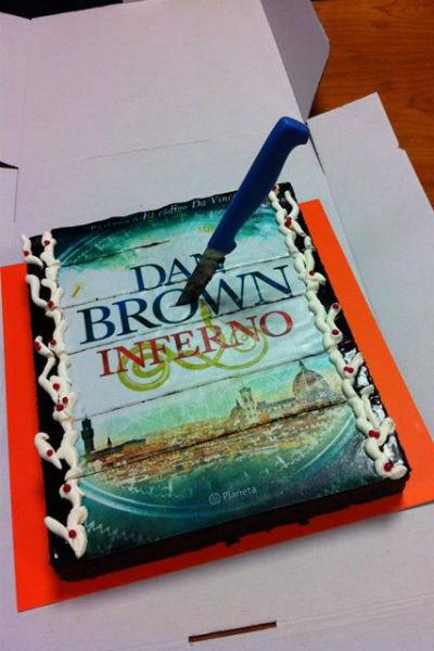 Праздничный торт в честь выхода новой книги
