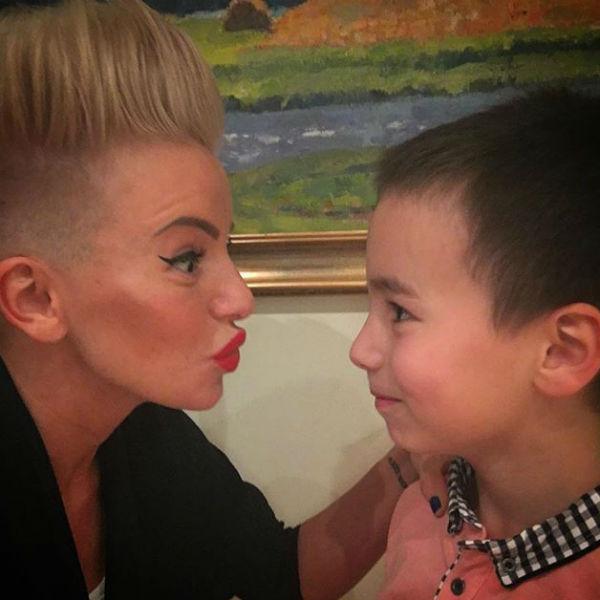 Юлия с сыном Самиром