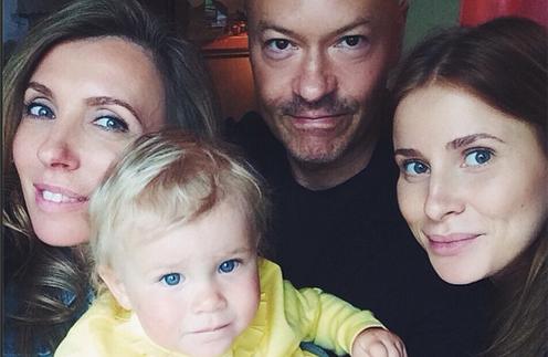 Светлана, Федор и Тата Бондарчуки с внучкой Маргаритой