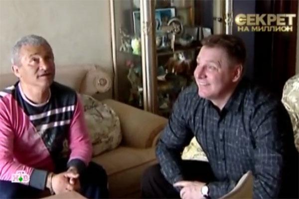 Возлюбленный Елены Воробей Игорь (на фото справа) и отец пародистки. Запись 2009 года