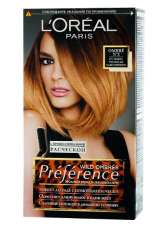 L'Oreal Paris Краска для волос Preference Ombres с щеточкой, 293 руб.