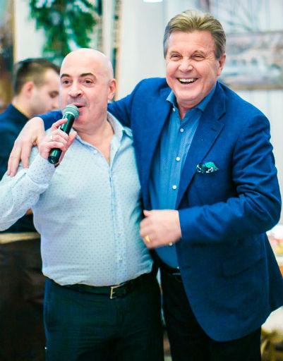 Михаил Грушевский и Лев Лещенко