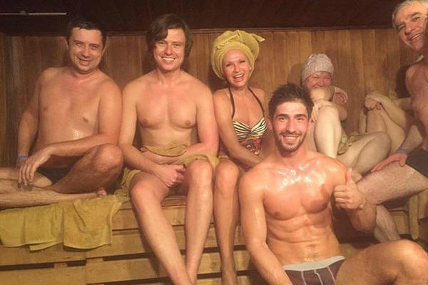 Телезвезда отдохнула в сочинской бане вместе с Прохором Шаляпиным