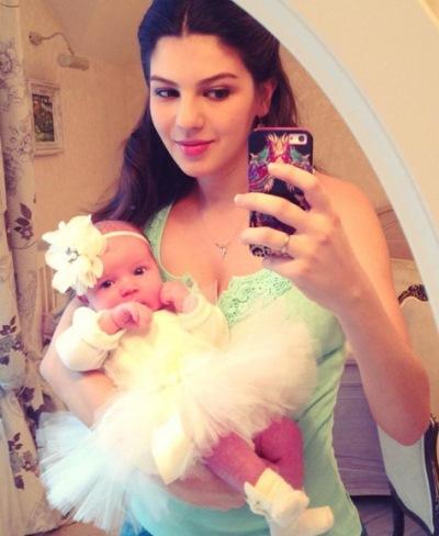 Ирина Рыжова с маленькой Лидой