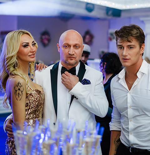Гоша Куценко, Алексей Воробьев и Татьяна Карматкова