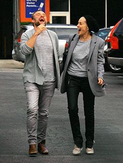 Шэрон Стоун и Дэвид ДеЛуис выглядят очень счастливыми