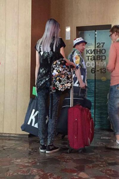 Анна-Мария прибыла в Сочи со своим знаменитым отцом