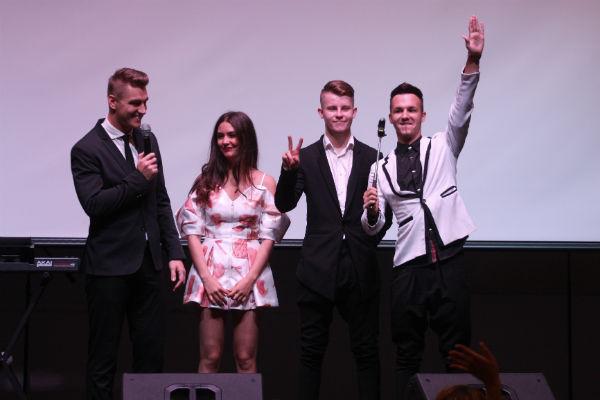 Алексей Воробьев и команда фильма «Вставай и бейся»
