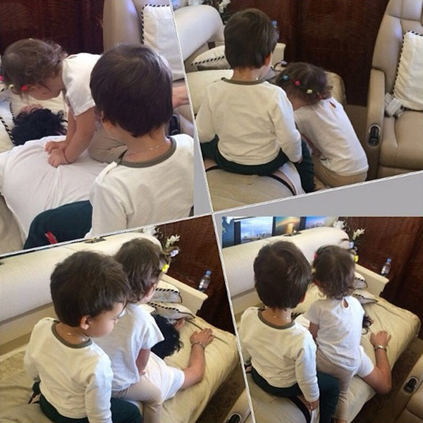 Малыши не оставляют папу в покое
