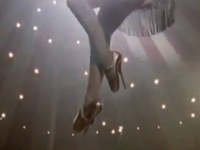 А вот Кристина Агилера одела Louboutin из коллекции Fetish на съемках клипа Hurt
