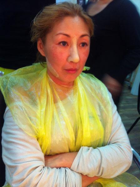 Анита Цой на гриме