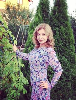 Ирина Александровна Агибалова в своем саду
