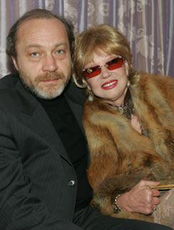 Людмила Гурченко с супругой Сергеем Сениным