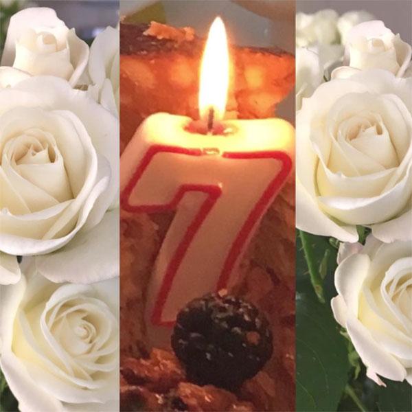 «Сегодня Веронике 7 месяцев. По этому случаю папа Игорь Николаев принес красивые цветы для мамы Юли и очень вкусный тортик», - рассказала Юлия Проскурякова в микроблоге