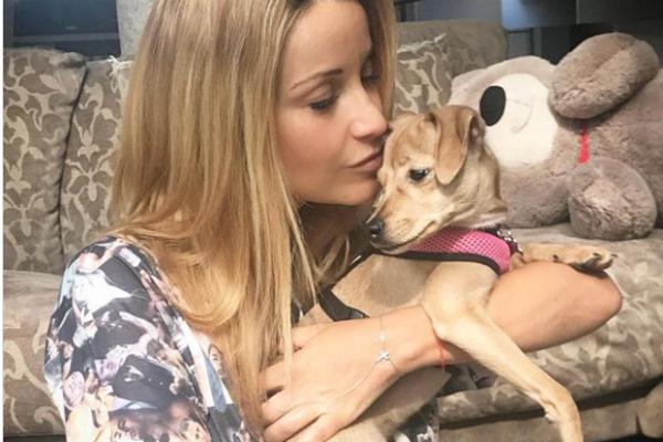 Год назад Ольга приютила собаку Дину