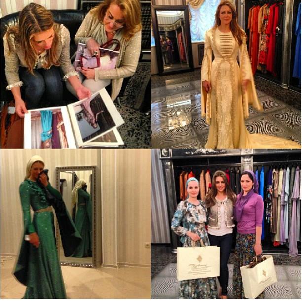 Элизабет Херли выбирает чеченское платье в доме моды Firdaws