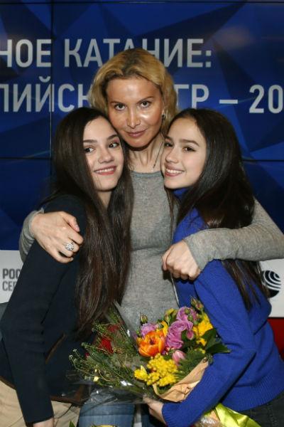 Евгения Медведева, Этери Тутберидзе и Алина Загитова