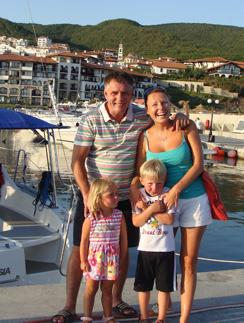 Наталья Бочкарева с мужем и детьми