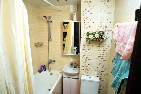 Ванную комнату сделали по эскизу дизайнера