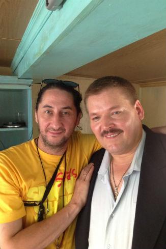 Режиссер Тимур Кабулов и актер Юрий Кузенецов-Таежный