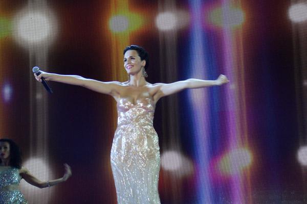 Певица Слава на концерте в честь Дня России