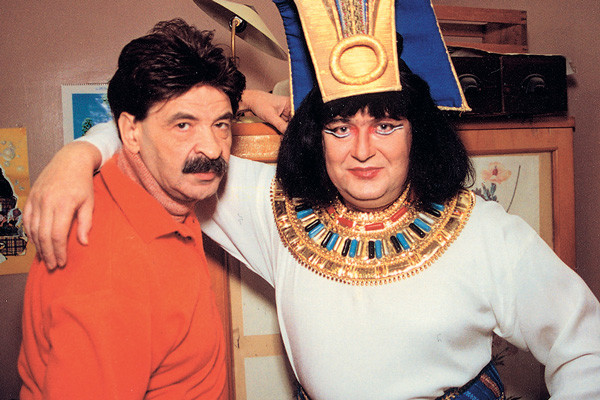 Юрий Стоянов и Илья Олейников 19 лет вели собственную программу «Городок», 2003 год