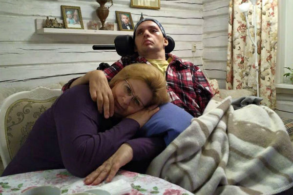 Алексей Янин с мамой Ольгой