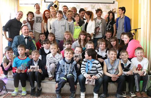 Воспитанники  Карабановского детского дома со звездами