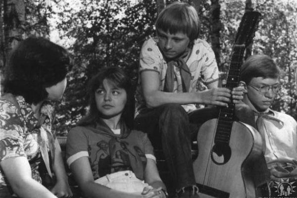 С актрисой Ольгой Дольниковой. Иван на съемках фильма «Обещаю быть!», 1983 год