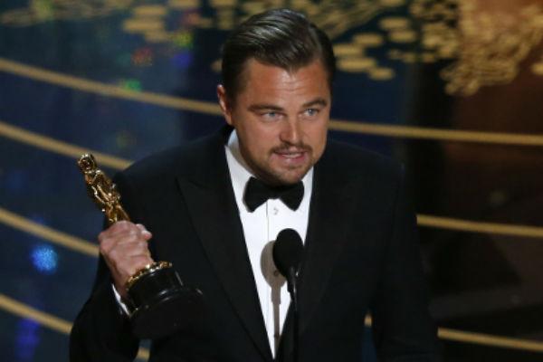 Леонардо Ди Каприо на церемонии вручения Оскара