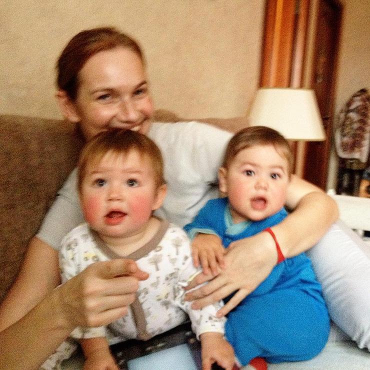 Телеведущая с сыновьями