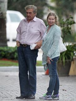 Лиза Ниеми и Альберт ДеПриско в апреле в Майами