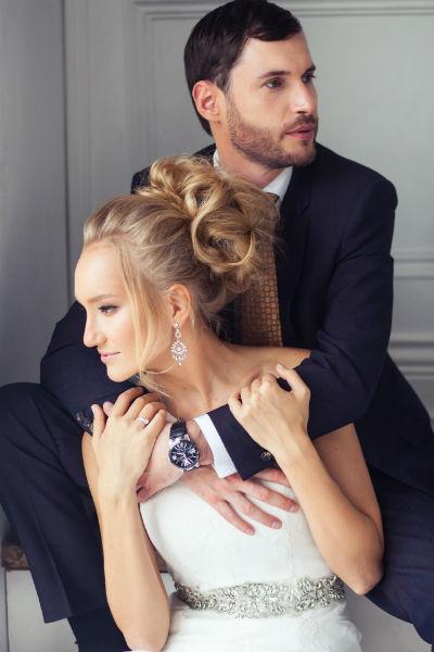 Недавно пара снялась в рекламной фотосессии свадебных нарядов