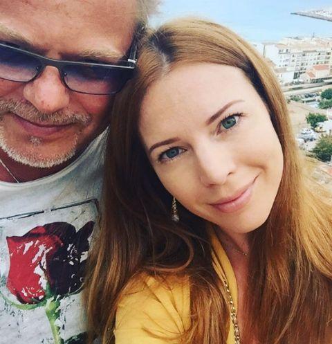 Наталья Подольская на отдыхе с супругом Владимиром Пресняковым