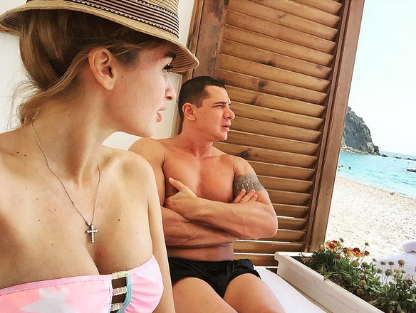 Ксения Бородина с мужем на отдыхе в Турции