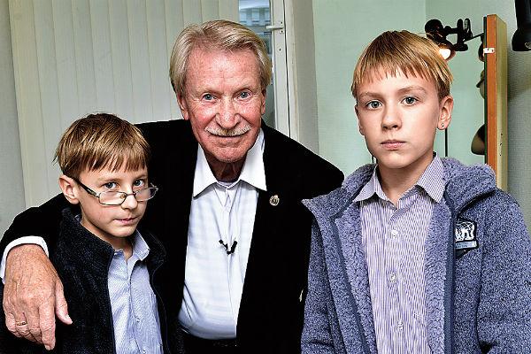 Иван Краско с сыновьями Федором и Иваном