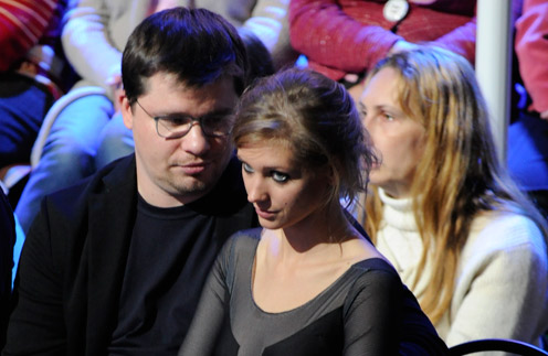 Гарик Харламов и Кристина Асмус на съемках «Ледникового периода»