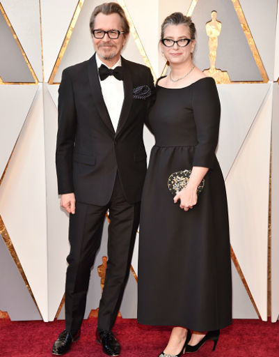 Гари Олдман с женой