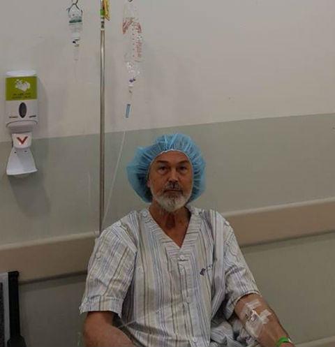 Никас Сафронов на процедурах