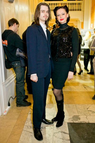 Ирина Безрукова с сыном Андреем, 2012 год
