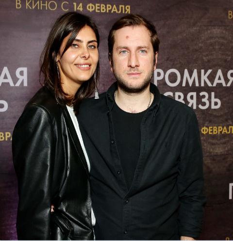 Надежда Оболенцева и Резо Гигинеишвили на премьере картины «Громкая связь»